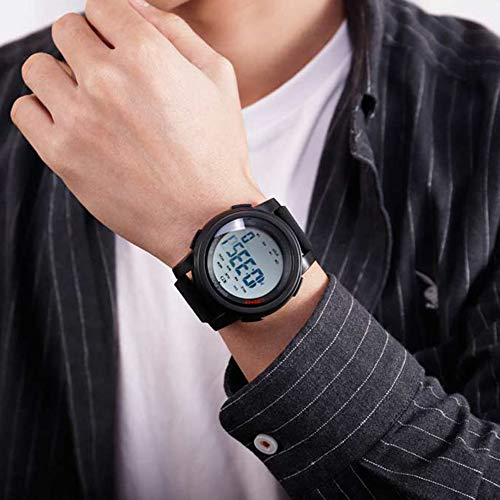 Relógio de pulso masculino digital eletrônico à prova d'água pedômetro Heaven2017 para esportes