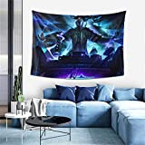 Longocean Yasuo League Legends Game Tapestry Wall Hanging Curtain Decor Bedroom Dorm Living Room Home Beach Blanket Beach Coverlet Poster Popular Decoration 60x40 Inch