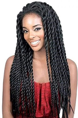 Synthetic Braid Wigs Braided Lace Front Wigs African American Twist Braids Wigs for Black Women Natural Color (18 Inch)