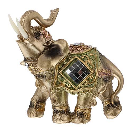 BESPORTBLE Estatua de Elefante con El Maletero hacia Arriba La Fortuna Estatuilla de Elefante de La Suerte para La Decoración de La Oficina del Hogar