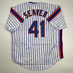 Unsigned Tom Seaver New York Pinstripe Custom Stitched Baseball Jersey Size Men's XL New No Brands/Logos
