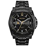 Bulova Men's Grammy Watch Analog-Quartz Stainless-Steel Strap, Black, 24 (Model: 98B295)
