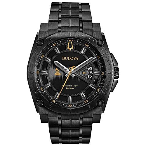 Bulova Herren Analog Quarz Uhr mit Edelstahl Armband 98B295