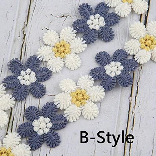 KIU DIY naaien gehaakte bloem kant lint stof materiaal textiel jurk handgemaakte ambachtelijke decoratie