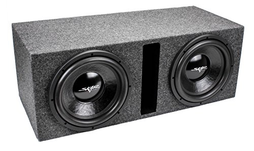 Skar Audio Dual 12' 1000W Dual 4 Ohm Loaded Vented Subwoofer Enclosure | IX12D4-2X12VENTED