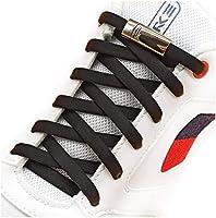 [AIJIABEI] (が2足) 結ばない靴紐くつひも ゴム 伸縮性靴ひも 金属強い磁気ホックロック,カジュアルシューズ,革靴,スポーツシューズ,子供,大人, ブラック(cx黑)