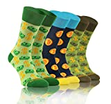 Sesto Senso Lustige Bunte Verrückt Socken Baumwolle Damen Herren 3 Pack Gemusterte Ungleiche Funny Socks Oddsocks Dollar Bitcoin 39-42 3 Geld