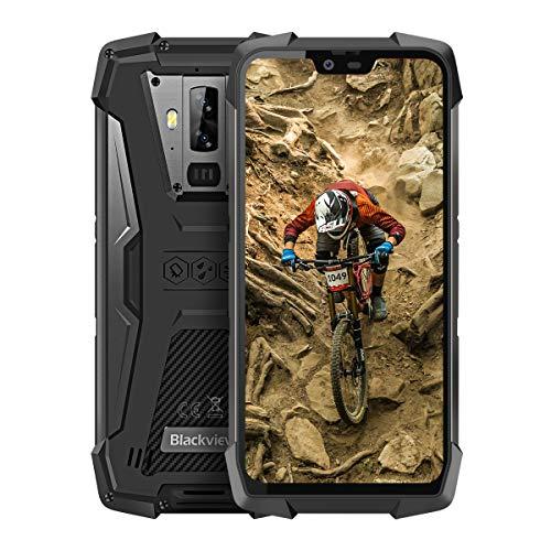Blackview BV9700 Pro - 5,84 pollici FHD + IP68 Rugged Smartphone antiurto, Helio P70 6 GB+128 GB Android 9.0, Qualità dell'aria e Monitor della Frequenza Cardiaca