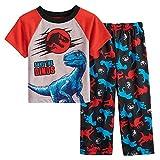 AME Jurassic World Toddler Boy's Save The Dinos Dinosaur Pajama Set (3T) Red, Blue