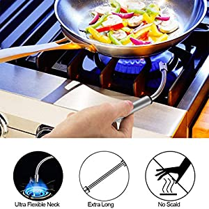 Candle Lighter, Upgraded USB Charging Arc Lighter with 360° Flexible Neck, Suitable Ignite Light Candles Gas Stoves Camping Cooking Barbecue Fireworks Flame, Silver