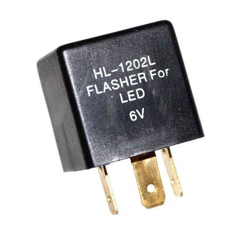 1 Blinker Relais lastunabhängig 6V LED Blinkrelais für OLDTIMER 0,05-20A 3-Polig Blinkgeber Old-Harvest