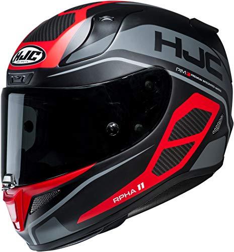 HJC Helmets Herren Nc Helmet, Schwarz/Grau/Rot, M