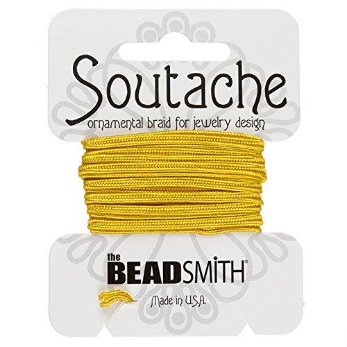 BeadSmith Soutache Band Viskose Kordel 3mm–Goldrute 2,7m