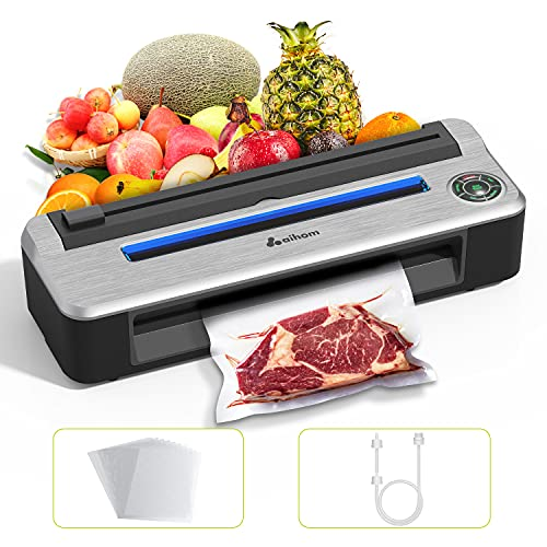 Vacuum Sealer Machine, AiHom Automatic Vacuum Packing Machine 80Kpa for Food Preservation | Starter Kit, Food Saver with Dry & Moist Food Modes | Vacuum Tank, Easy to Clean