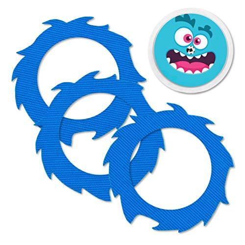 Freestyle Libre 1 & 2 FixTape Fixierungstape Fixiertape Sensor Tape wasserfest, atmungsaktiv und hautfreundlich inkl. Sticker mit Loch für Sensor im Set (3+1) | Zucker Monster