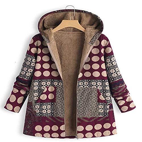 NOBRAND Dames Winterjas Vrouwen Vrouwelijke Windbreaker Leren Jas Pluche Jas Warm Bovenwerk Bloemen Print Hooded Pockets Vintage Jassen