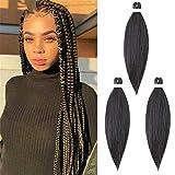 65cm Extensiones de Pelo Sintético para Trenzas Africanas Braiding Twist Crochet Hair EZ Trenzado...