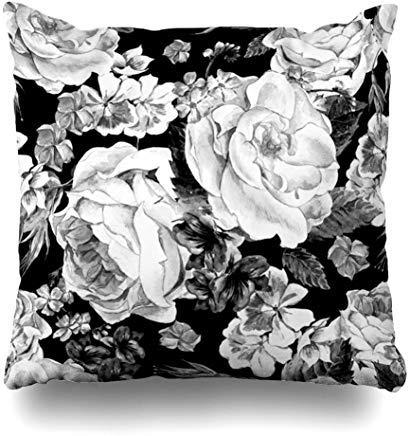 GFGKKGJFF0812 - Funda de cojín con diseño Floral de Acuarela y Flore