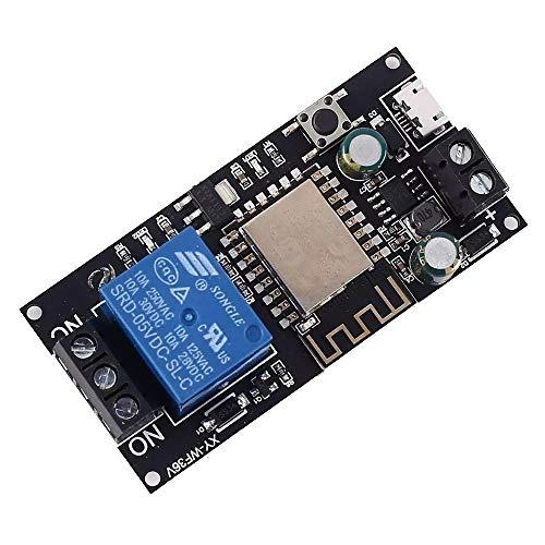 Conjuntos y componentes electrónicos DIY Interruptor WIFI remoto del relé de control de dispositivos de control inteligente ModuleIoF inalámbrica for el hogar inteligente DC 12V 24V-36V DC6V