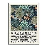 Póster vintage de William Morris, impresión de arte de pared...