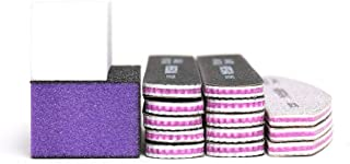 15PCS/Box Mixed Combination Nail File Cosmetic Manicure Pedicure(1pcs White Buffer Block+1pcs Polish Buffer Buffing Block+ 3pcs Emery Board White +10pcs Emery Board Black)