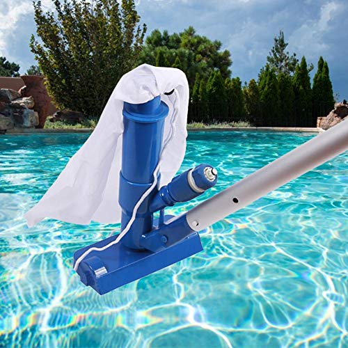 Pool-Vakuumkopf, Spa- und Pool-Vakuumkopf, Poolreinigung, gewichtete Basis Professional, ideal zum Reinigen von Schmutz von Poolböden Pool-Spa-Brunnen-Whirlpool (mit Bürste, Beutel und 48-Zoll-Stange)