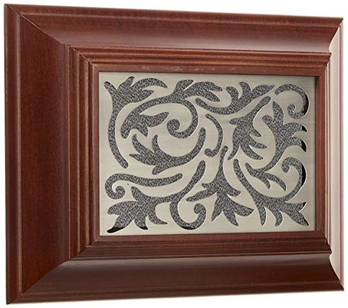 Heath/Zenith HE-2219-CH Wired Door Chime with 4 Unique Polyphonic Melodies, Solid Poplar with Satin Nickel Insert, Dark Chocolate Finish