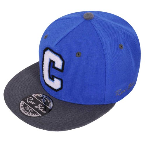 Raw Blue Letterpatch-Snapback C in Royal / Grey