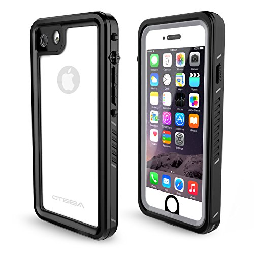 OTBBA iPhone 7/8/SE Waterproof Case,IP68 Certified Waterproof Shockproof Snowproof Dirtproof Full Body Protective Underwater Case for iPhone 7/8/SE(Clear)