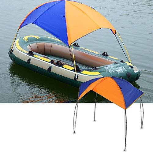 DEWIN Boat Shelter - Zelt Faltbare Baldachin für Schlauchboot und Camping 2-4 Personen Tragbares Boot Zelt Sonnenschutz Canopy Markise