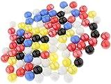RENFEIYUAN 180pc 16 mm de Colores de Vidrio de Colores Ball Cheques Checkers Mármol Solitaire Juguetes ajedrez Damas