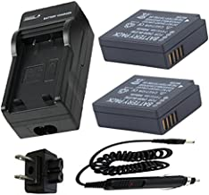 Battery (2-Pack) and Charger for Panasonic Lumix DMC-GX7, DMC-LX100 Digital Camera