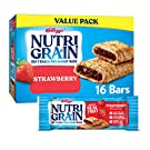 Nutri-Grain Soft Baked Breakfast Bars, Made with Real Fruit and Whole Grains, Kids Snacks, Value Pack, Strawberry, 20.8oz Box (16 Bars) Pack of 3