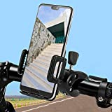 Thatboyjp 自転車 スマホ ホルダー スタンド オートバイ バイク スマートフォン振れ止め 脱落防止 GPSナビ 携帯 固定用 に適用 ロードバイク クロス バイク すまほ ホルダー サイクリング バイク用 スマホ固定 に適用 iPhone 11 11Pro Max X XS Max 8 7 6S 6plus プロ マックス 10 galaxy s8 s9 HUWEI Mate P20 Pro P10 lite Sony Xperia Nexus android 3.5-6.4インチ 多機種対応 角度調整 360度回転 脱着簡単 強力な保護