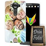 dessana Eigenes Foto Coque de protection en silicone TPU pour LG V10 Motif personnalisé 0,7 mm