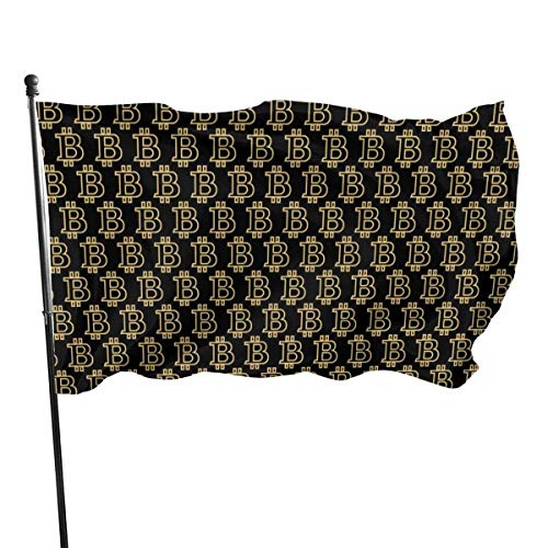 Garden Flag Banner,Black and Gold Ornament Vivid Color and UV Fade Resistant Double Stitched Yard Banner Season Flag Wall Flags 3 X 5 Ft