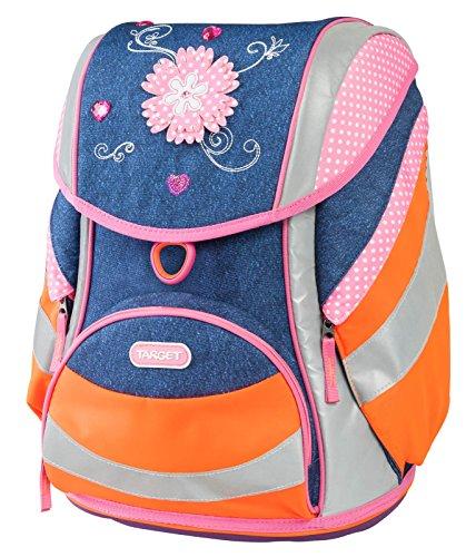 Target Reflex Backpack Unisex-Child, Bleu (Jeans Flower), 42 Centimeters