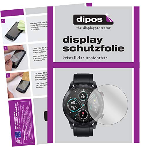 dipos I 5X Schutzfolie kompatibel mit Honor Magic Watch 2 46mm Displayschutz-Folie klar