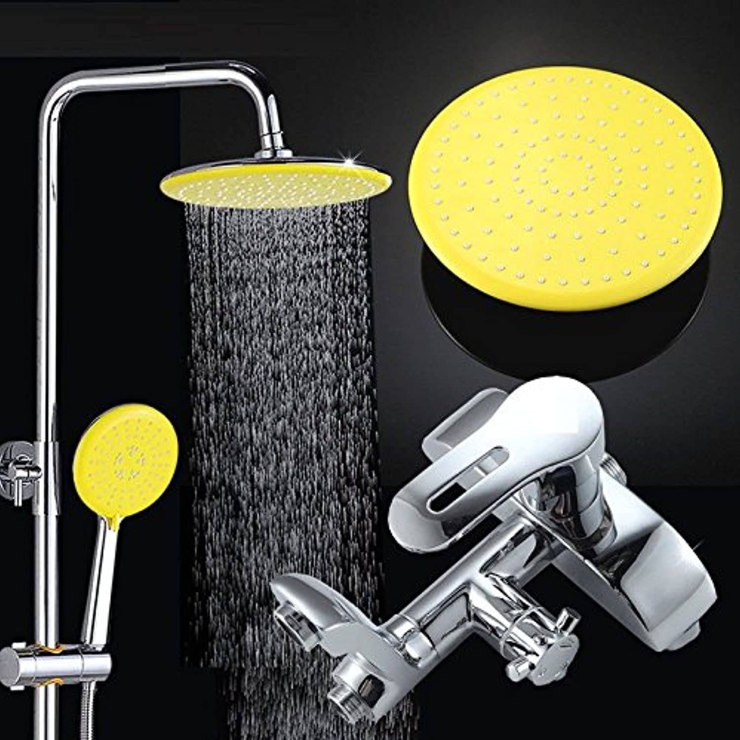 SADASD Modern Copper Bathroom Dome Lift Adjustment Shower Faucet Set Can Be redated With Hand Shower Faucet Shower Hot and Cold Mixer Tap