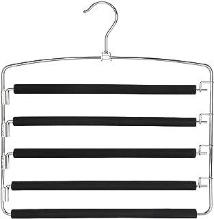 qingfeng Cintre multifonction 5 en 1 en métal pour penderie et rangement de vêtements (couleur : cintre à pantalons)