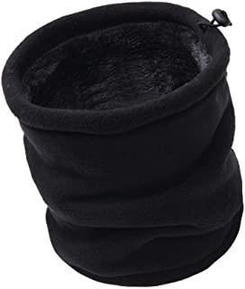 Luccy K Unisex Winter Fleece Neck Warmer Windproof Snood Thermal Neck Gaiter