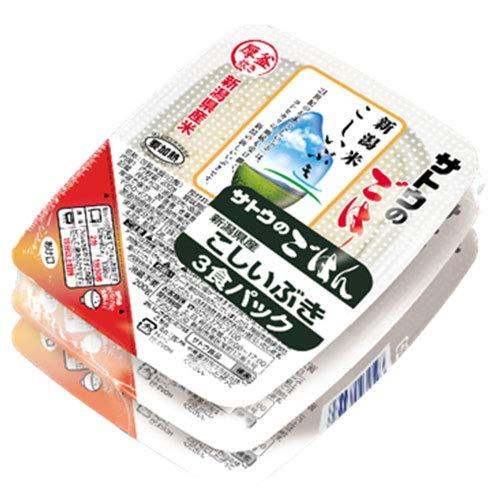 サトウ食品 サトウのごはん 新潟県産こしいぶき 3食パック 200g×3食×12個入×(2ケース)