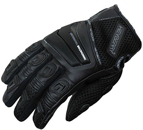 HEYBERRY Motorrad Handschuhe Motorradhandschuhe Sommer schwarz Gr. XL