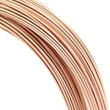 Dreambell 5 feet 14k Rose Gold Filled Round 28 Gauge / 0.3mm Half Hard Wire/Findings/Rose Gold