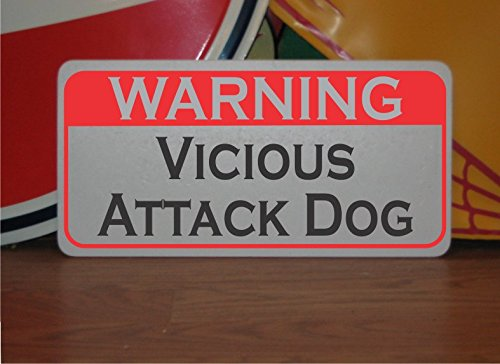 Warning Vicious Attack Dog 6x12 Metal Sign for Police K-9