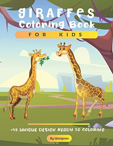 Giraffes Coloring Book For Kids A Cute Collection of Giraffes Designs For Kids Dover Nature product image