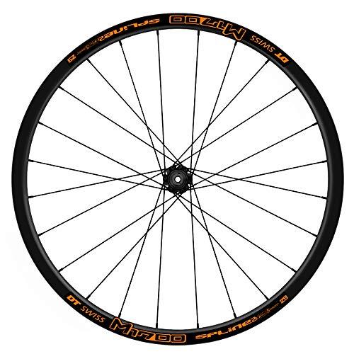 Pegatinas Llantas Bicicleta DT Swiss 1700 Spline WH47 Naranja
