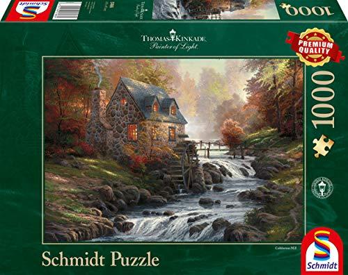Schmidt Games - Thomas Kinkade, bij de oude molen, 1.000 delen puzzel