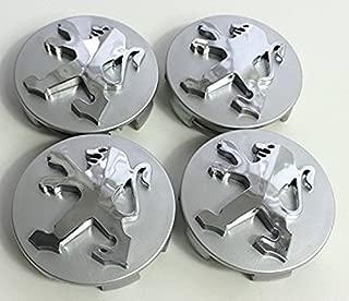 cubo de aleaci/ón 60mm Tapa de centro de rueda 113gr. tapones para carreras color plata//rojo.