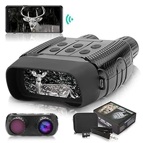 NOCOEX Binoculares Visión Nocturna, Prismáticos gafas Infrarrojos Digital Visión Nocturna con 2,31' LCD TFT para la Caza, Cámara fotográfica HD de 1280x960p Grabadora de video con Tarjeta Memoria 32G